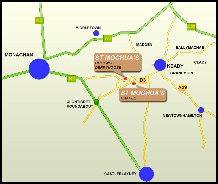 saint mochuas holywell derrynoose map